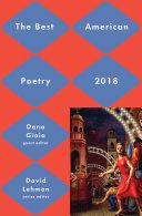 Best American Poetry 2018 [Pdf/ePub] eBook