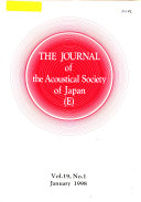 The Journal of the Acoustical Society of Japan (E).