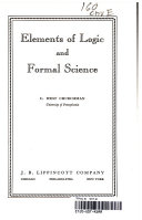 Elements of Logic and Formal Science