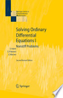 Solving Ordinary Differential Equations I