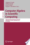 Computer Algebra In Scientific Computing Book PDF