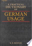 A Practical Dictionary of German Usage