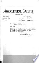 The Agricultural Gazette And Modern Farming