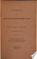Proceedings of the Nebraska Ornithologists' Union