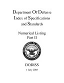 Department Of Defense Index of Specifications and Standards Numerical Listing Part II July 2005