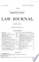 The Kentucky Law Journal