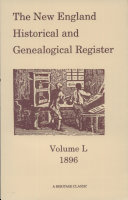 The New England Historical and Genealogical Register, 1896
