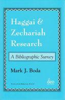 Haggai and Zechariah Research