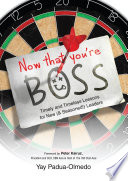 Now That You Re Boss Book PDF