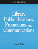 Library Public Relations, Promotions, and Communications