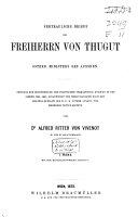 Vertrauliche Briefe des Freiherrn von Thugut, Österr. Ministern des Äussern, 1792-1801
