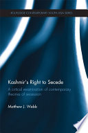 Kashmir's Right to Secede