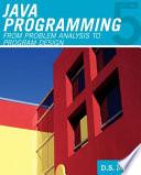 Javatm Programming From Problem Analysis To Program Design