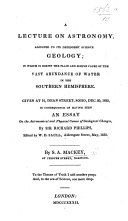 A Lecture on Astronomy