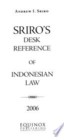 Sriro's Desk Reference of Indonesian Law