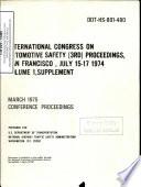 International Congress on Automotive Safety  3rd  Proceedings  Vol  1