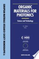 Organic Materials for Photonics