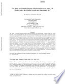 The Initial and Potential Impact of Preferential Access to the U S  Market Under the African Growth and Opportunity Act