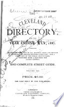 The Cleveland Directory Co.'s Cleveland (Cuyahoga County, Ohio) City Directory