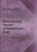 Educational theory of Immanuel Kant Pdf/ePub eBook