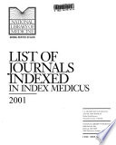 Index Medicus Book