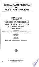 Hearings Reports And Prints Of The House Committee On Agriculture
