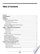 Conflict Resolution Education