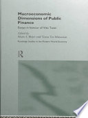 macroeconomic dimensions of public finance ter minassian teresa blejer mario