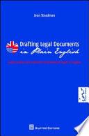 Drafting legal documents in plain english-Guida pratica alla redazione di documenti legali in inglese