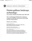 Hunter gatherer Landscape Archaeology Book