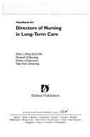 Handbook for Directors of Nursing in Long term Care