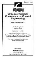 25th International Conference on Coastal Engineering