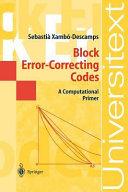 Block Error Correcting Codes