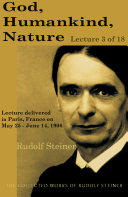 God  Humankind  Nature  Lecture 3 of 18