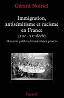 Pdf Immigration, antisémitisme et racisme en France (XIXe-XXe siècle) Telecharger
