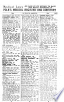Polk's Medical Register and Directory of North America