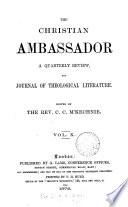 The Christian Ambassador Ed By C C Mckechnie