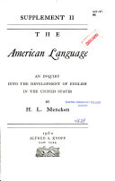 The Amrican Language Book