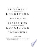 A Proposal for Discovering Our Longitude  By Jane Squire