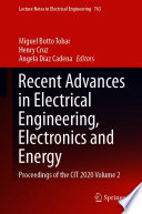 Recent Advances in Electrical Engineering  Electronics and Energy Book