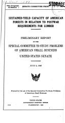 Sustained yield Capacity of American Forests in Relation to Postwar Requirements for Lumber