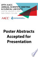 69th Aacc Annual Scientific Meeting Abstract Ebook