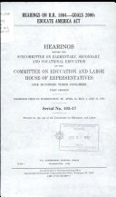 Hearings on H R  1804  goals 2000