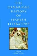 The Cambridge History of Spanish Literature
