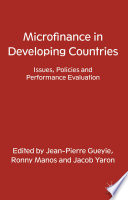Microfinance in Developing Countries Book