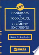 CRC Handbook Of Food  Drug  And Cosmetic Excipients