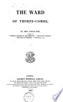 The Ward Of Thorpe Combe