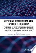 Artificial Intelligence and Speech Technology