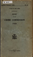 Report of the Crime Commission