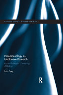 Phenomenology as Qualitative Research